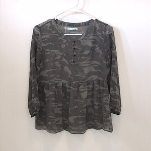 Maurices camouflaged blouse